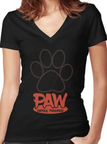 PAW Patrol Trooper Women's Fitted V-Neck T-Shirt