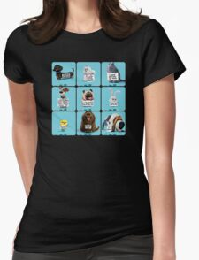 the secret life of pets  & Friends Womens Fitted T-Shirt