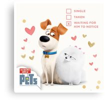 the secret life of pets Folling in Love Canvas Print