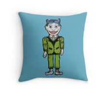 Tillie Funny Face Pillow in Blue Throw Pillow
