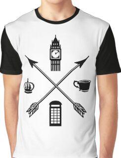 The London Four - Black Graphic T-Shirt