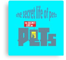 The Secret Life Of Pets Movie Logo Canvas Print