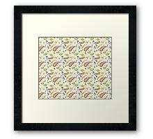 Baby paisley design Framed Print