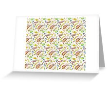 Baby paisley design Greeting Card