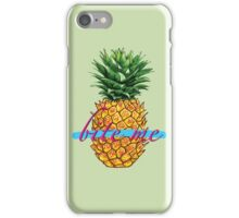 BITE ME TROPICAL PINEAPPLE  iPhone Case/Skin