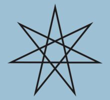 Elven Star, Perfection & Protection, Heptagram,  Kids Clothes