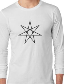 Elven Star, Perfection & Protection, Heptagram,  Long Sleeve T-Shirt