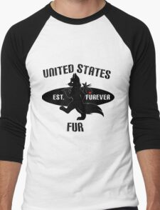 United States Fur Men's Baseball ¾ T-Shirt