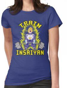 TRAIN INSAIYAN (Vegeta Deadlift) Womens Fitted T-Shirt