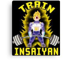 TRAIN INSAIYAN (Vegeta Deadlift) Canvas Print