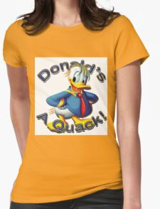 "Anti Trump ""Donald's A Quack"" Womens Fitted T-Shirt"