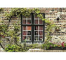Green Window in Brugge - Travel Photography/ Object Photography Photographic Print