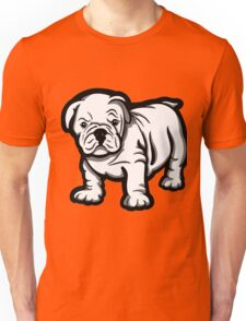 Grumpy Bull Dog Puppy White  Unisex T-Shirt