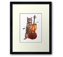 Cello Cat - Meowsicians Framed Print