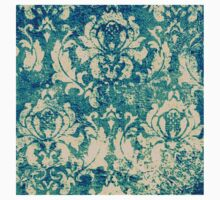 elegant,green,beige,rustic,damask,damasks,vintage,wall paper,floral,flowers,victorian,edwardian,grunge, country chic,country,trendy,modern One Piece - Short Sleeve