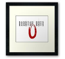 Bangtan Boys: Typography (White) Framed Print