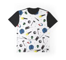 Strangers Things Pattern Graphic T-Shirt