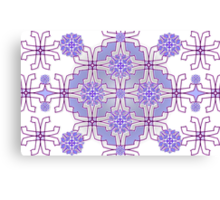 Mauve Mirrorart Pattern 2 (MP 1) Canvas Print