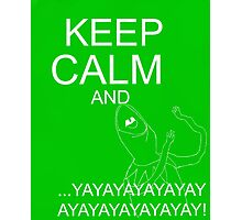 Keep Calm and Kermie On Photographic Print