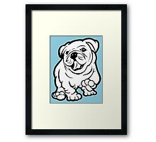 Happy Bulldog Puppy  Framed Print