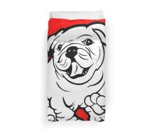 Happy Bulldog Puppy  Duvet Cover