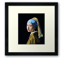 Girl with a Ruby Earring Framed Print