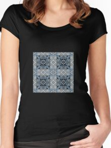 Bright abstract seamless lace pattern romantic print background Women's Fitted Scoop T-Shirt