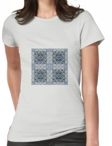 Bright abstract seamless lace pattern romantic print background Womens Fitted T-Shirt