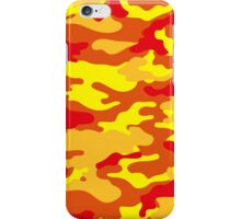 Camouflage (Fire) iPhone Case/Skin