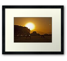 Sunrise in the fields Framed Print