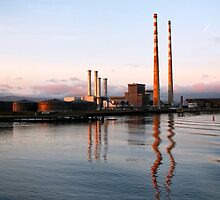 Factory in Dublin Harbour II by Ludwig Wagner