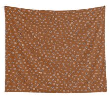 Omni dots manly brown burgundy pattern Wall Tapestry