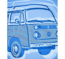 Blue Bay Campervan Dub-U King Size Duvet (please see description), Pillow and Tote Photographic Print