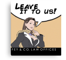 Fey & Co. Law Offices. Canvas Print