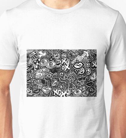 Hebrew Love Doodle Page Unisex T-Shirt