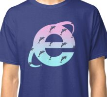 Vaporwave | Dolphins | Internet Explorer | HIGH QUALITY! | NEW! Classic T-Shirt
