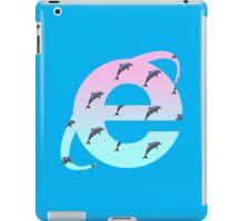 Vaporwave | Dolphins | Internet Explorer | HIGH QUALITY! | NEW! iPad Case/Skin