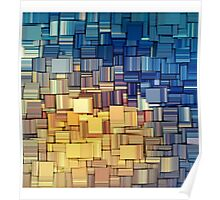Blue & Yellow Abstract  Poster