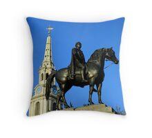 King George IV, Trafalgar Square Throw Pillow