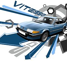 T-shirt 'Explosion' Rover SD1 Vitesse by RJWautographics
