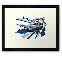 Rover SD1 Vitesse T-shirt 'Explosion' Framed Print