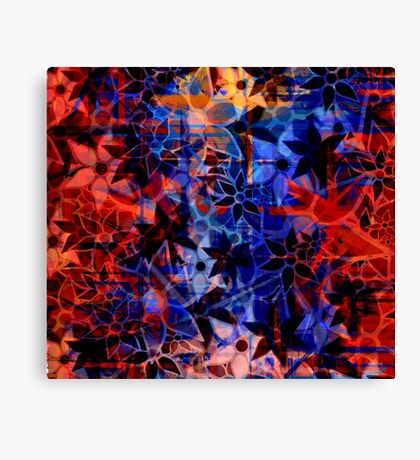 Abstract Art Retro Floral Pattern Canvas Print