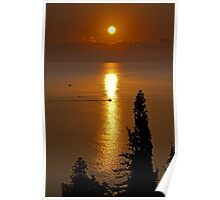 Sunrise at Gytheio, Peloponnese Poster