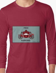 """Mozart and Marie """"Free Carriage Parking"""" Mozopoly Long Sleeve T-Shirt"""