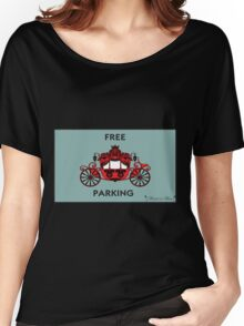 """Mozart and Marie """"Free Carriage Parking"""" Mozopoly Women's Relaxed Fit T-Shirt"""