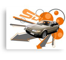 Rover SD1 V8 T-shirt 'Explosion' Canvas Print