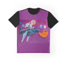 Solar System Whale Graphic T-Shirt