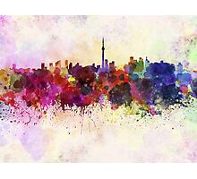 Toronto skyline in watercolor background Photographic Print