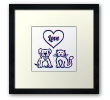 Cat and dog Framed Print