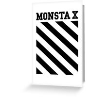 Monsta X Off-White Inspired Logo 2 Greeting Card